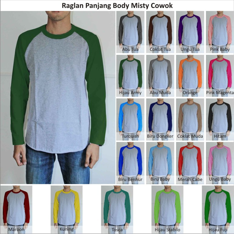 Xl Xxltshirt Kaos Polos Raglan Pria Cowok Lengan Panjang Body Mist Indotees Factory Jual Grosiran Kaos Polos Raglan Hoodie Sweater Pria Wanita Murah Bisa Satuan